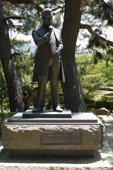 新潟市白山公園 楠本正隆銅像