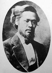 森有礼(もり ありのり)文部大臣。薩摩出身