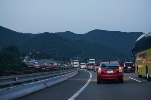 高速道路上で