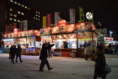 札幌雪祭の屋台