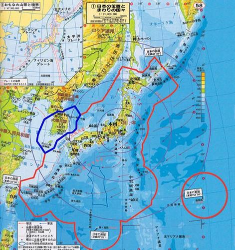 日本の国土 海が含まれる。