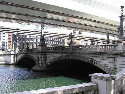 参勤交代の往路のゴールであり、復路のスタート地点である東京・日本橋