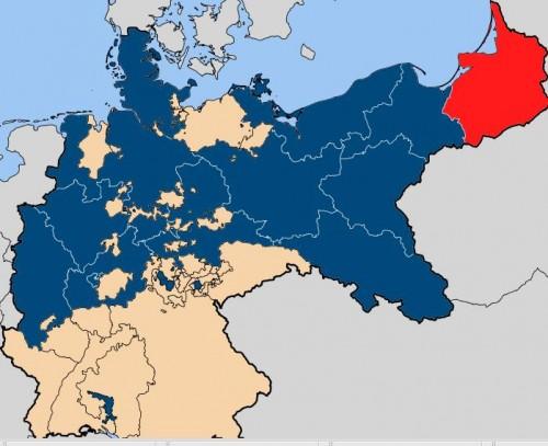 プロシア国(青) ドイツ帝国の前身