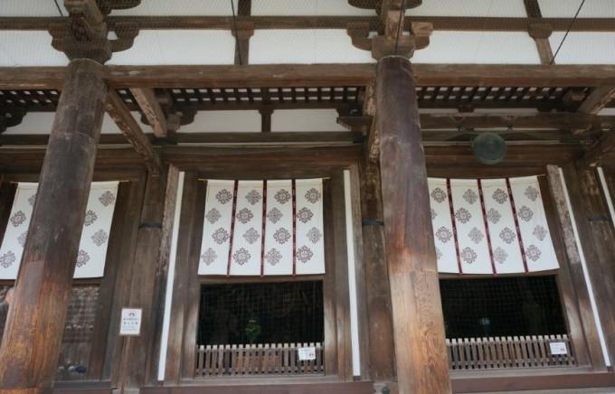 エンタシスの技法が用いられた唐招提寺の柱