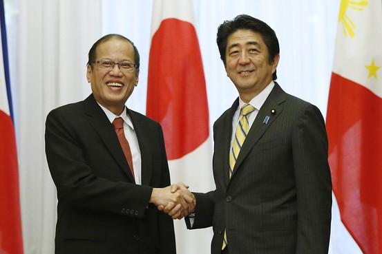 安倍総理とフィリピンのアキノ大統領