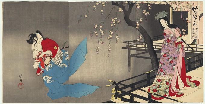 Yōshū_Chikanobu_Yoshitsune_Sembon_Zakura