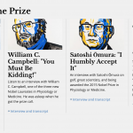ノーベル財団から受賞者への電話