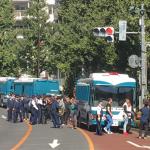 渋谷のトルコ大使館前で暴動発生