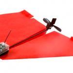 【工学部志望者向け】動画あり:手で折った紙飛行機をドローン化し、スマホで自由に操縦できるモジュールが発売されました