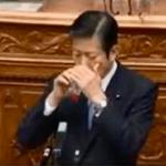 【動画】公明党・山口代表、国会で朝鮮飲みをしていた