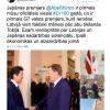 ラトビア共和国クチンスキー首相の日本に対するメッセージ