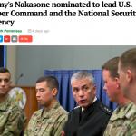 アメリカ陸軍の中曽根さん、アメリカ国家安全保障局サイバー部門のトップに